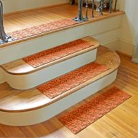 Weather Guard™ Dogwood Leaf Stair Treads in Orange (Set of 2)