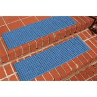 Weather Guard™ Squares Stair Treads in Medium Blue (Set of 2)