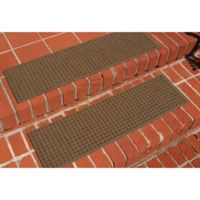 Weather Guard™ Squares Stair Treads in Dark Brown (Set of 2)