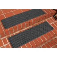 Weather Guard™ Squares Stair Treads in Charcoal (Set of 2)