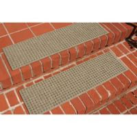Weather Guard™ Squares Stair Treads in Camel (Set of 2)