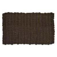 Nature by Geo Crafts Mighty Mariner Cape Cod 18-Inch x 30-Inch Reversible Outdoor Mat in Brown