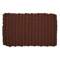 Nature by Geo Crafts Mighty Mariner Cape Cod 18-Inch x 30-Inch Reversible Outdoor Mat in Burgundy