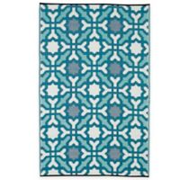 Fab Habitat Seville 3-Foot x 5-Foot Indoor/Outdoor Rug in Blue