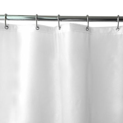 Shimmer PEVA Shower Curtain Liner In Frosted