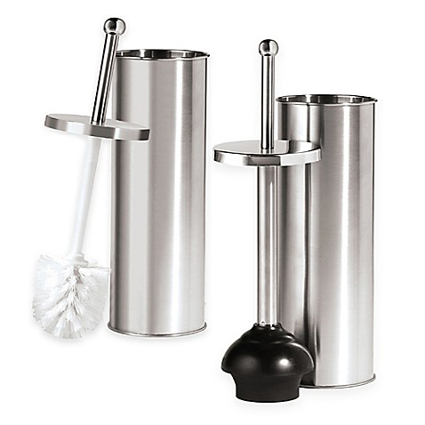 oggi stainless steel toilet accessories bed bath beyond. Black Bedroom Furniture Sets. Home Design Ideas