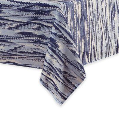 Florentina 60 Inch X 144 Inch Oblong Tablecloth In Indigo