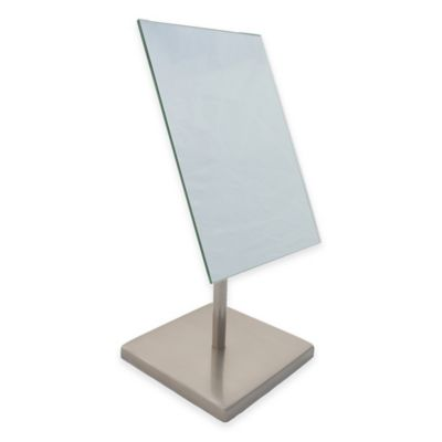 Mona 5X Magnification Vanity Mirror in Satin Nickel. Buy Bathroom Mirror with Magnification from Bed Bath  amp  Beyond