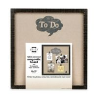 "Prinz Sweet Water ""To Do"" Linen Magnetic Board with Magnet Clips in Black"