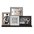 Prinz Sweet Water 3-Photo  Live, Love, Laugh  Mantle Collage Frame