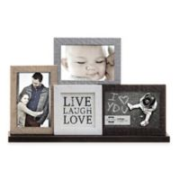 "Prinz Sweet Water 3-Photo ""Live, Love, Laugh"" Mantle Collage Frame"