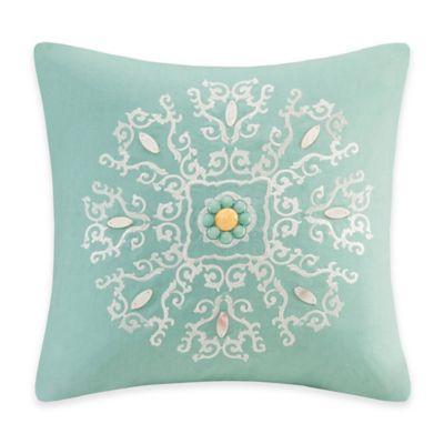 Echo Design Throw Pillows : Echo Design Indira Medallion Square Throw Pillow in Teal - Bed Bath & Beyond