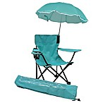 Redmon Kids' Camp Chair with Umbrella in Aqua