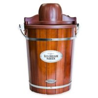 6-Quart Wooden Bucket Ice Cream Maker
