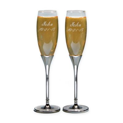 buy wedding toasting flutes from bed bath beyond