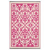 Fab Habitat Venice 6-Foot x 9-Foot Indoor/Outdoor Rug in Cream and Pink