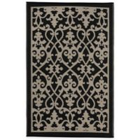 Fab Habitat Venice 6-Foot x 9-Foot Indoor/Outdoor Rug in Cream and Black