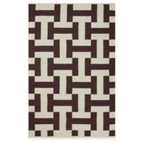 Fab Habitat Canal 2-Foot x 3-Foot Accent Rug in Coffee & Beige