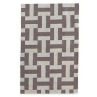 Fab Habitat Canal 2-Foot x 3-Foot Accent Rug in Ash & White