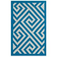 Fab Habitat Broadway 3-Foot x 5-Foot Cotton Area Rug in Enchanting Blue & White