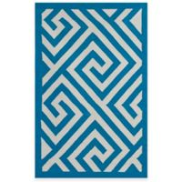Fab Habitat Broadway 6-Foot x 9-Foot Cotton Area Rug in Enchanting Blue & White