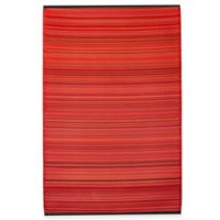 Fab Habitat Cancun 3-Foot x 5-Foot Striped Area Rug in Sunset