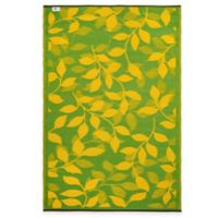 Fab Habitat Bali 5-Foot x 8-Foot Indoor/Outdoor Area Rug in Lemon Yellow & Moss Green