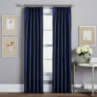 Spellbound Pinch-Pleat 63-Inch Rod Pocket Lined Window Curtain Panel in Indigo