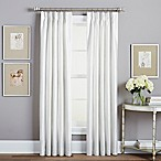 Spellbound Pinch-Pleat 84-Inch Rod Pocket Lined Window Curtain Panel in White
