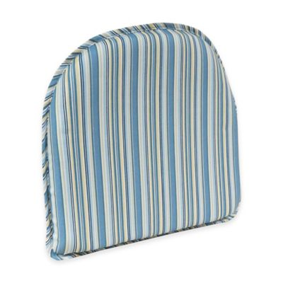 Klear Vu Essentials Cottage Stripe GripperR Chair Pad In Blue