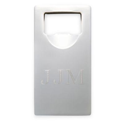 4-Inch Rectangular Bottle Opener in Silver