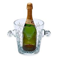 Crystal Medallion Ice Bucket with Handles