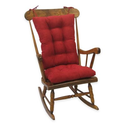 Klear Vu Twillo Universal Extra Large 2 Piece Rocking Chair Pad Set In Red