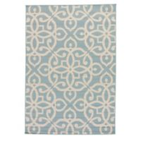 Jaipur Scrolled 7-Foot 11-Inch x 10-Foot Indoor/Outdoor Area Rug in Blue/Taupe