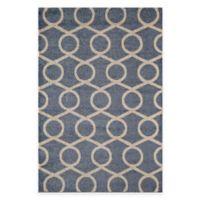 Rugs America Hudson Links 2-Foot x 2-Foot 11-Inch Rug in Blue