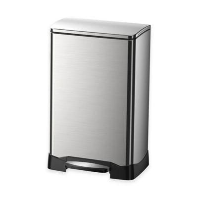 EKO Neo Cube Stainless Steel Rectangular 40 Liter Soft Close Step Trash Can