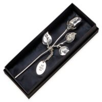 7.5-Inch Silver-Plated Rose
