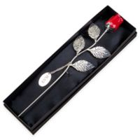 12.75-Inch Silver-Plated Rose in Red