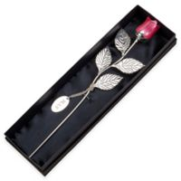 12.75-Inch Silver-Plated Rose in Pink