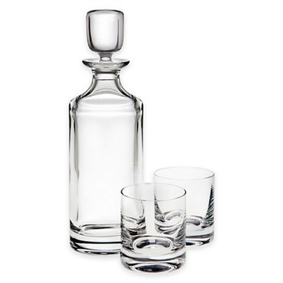 top shelf pure 3piece lead crystal decanter set