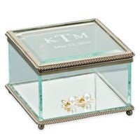 Large Square Glass Keepsake Box