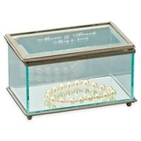 Small Rectangular Glass Keepsake Box