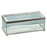 Large Rectangular Glass Keepsake Box