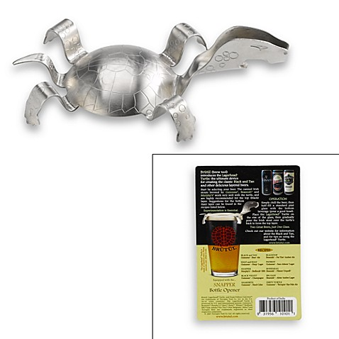 lagerhead black and tan turtle with snapper bottle opener bed bath beyond. Black Bedroom Furniture Sets. Home Design Ideas