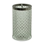 Jessica Simpson Diamond Cut Toothbrush Holder in Clear