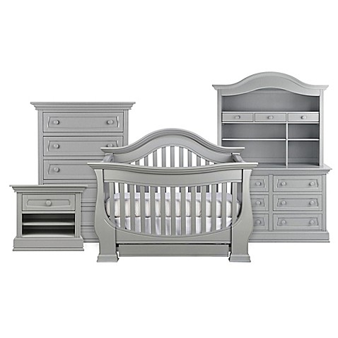 Baby Appleseed 174 Davenport 4 In 1 Convertible Crib In Moon