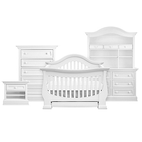 Baby Appleseed 174 Davenport 4 In 1 Convertible Crib In Pure