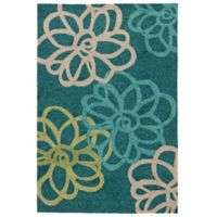 Jaipur Catalina Blossomed 5-Foot x 7-Foot 6-Inch Indoor/Outdoor Area Rug in Blue/Ivory