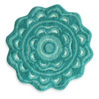 Buy WhiteAqua Bath Rugs Bed Bath Beyond - Aqua bathroom rugs