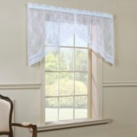 Commonwealth Home Fashions Mona Lisa Swag Valance in White